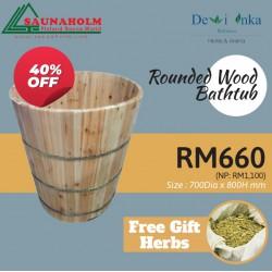 Rounded Wood Bathtub