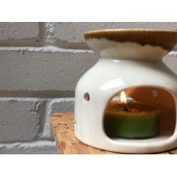 candle warmer white pearl