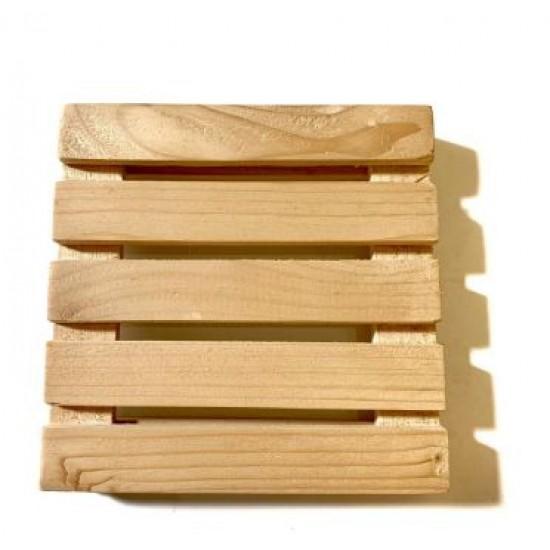 Cartoon Fruit Plate Tableware Kitchen Ware Japanese Style Wood, Rolling Coaster Mini Décor (1Set 4Pcs)